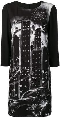 Moschino cityscape print dress