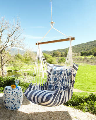 Horchow Blue Swinging Chair