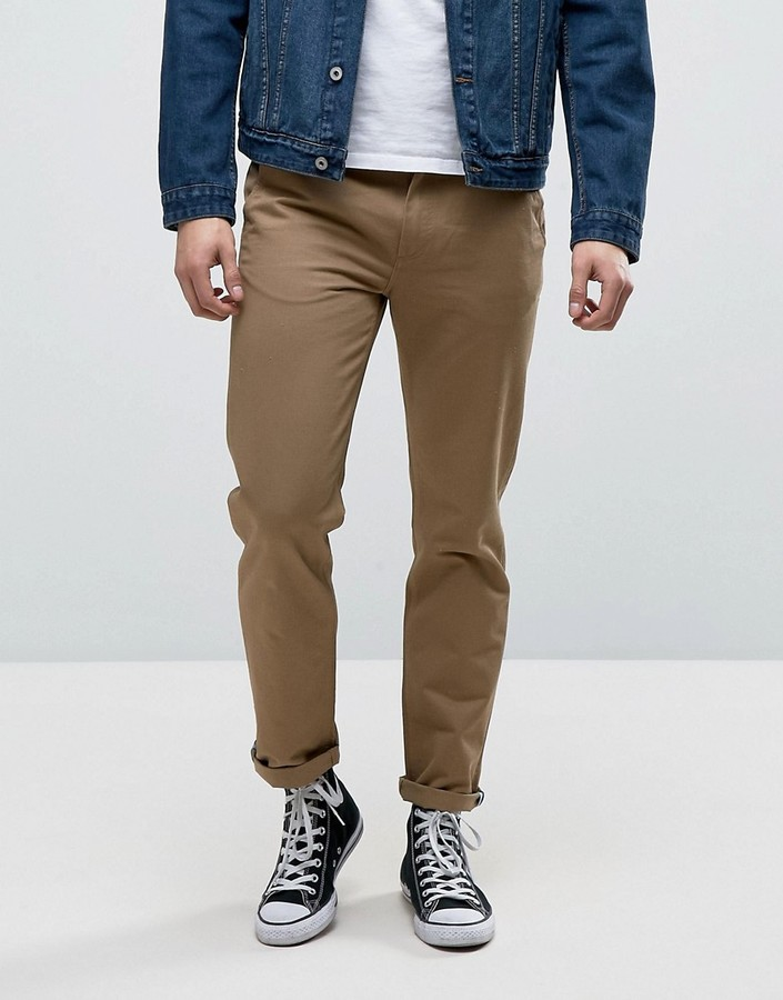 Fred Perry Fred Perry Pique Chinos in Tan