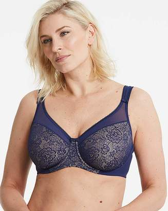 Berlei Lace Deep Blue Minimiser Bra