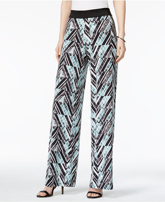Alfani Printed Palazzo Pants, Only at Macy's $59.50 thestylecure.com