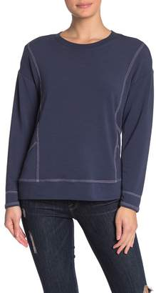 Cable & Gauge CG Topstitch Knit Pullover Sweater