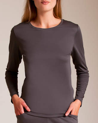 Zimmerli Of Switzerland Pure Opulence Cotton Long Sleeve Top
