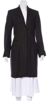 Gucci Wool Pinstripe Coat