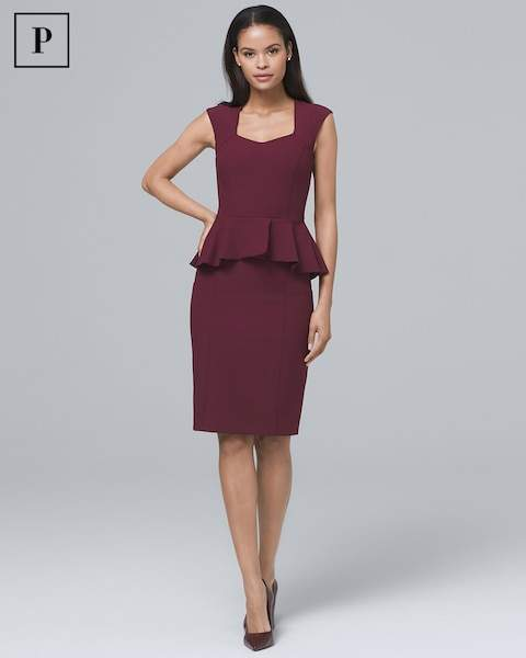Whbm Body Perfecting Peplum Sheath Dress