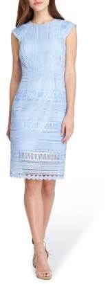 Tahari Cap Sleeve Lace Sheath Dress