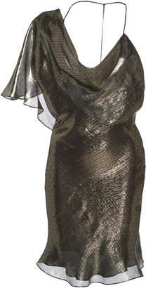 Cushnie Metallic Silk-Blend Mini Dress Size: 4