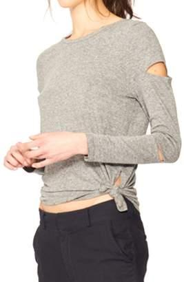 n:PHILANTHROPY - Gloria Long Sleeve With Cutout Detail - Heather Grey