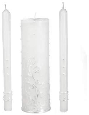 HOMEZONE INTERNATIONAL CORP 3-Piece Wedding Candle Unity Set