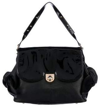 Zac Posen Z Spoke by Leather Bow Shoulder Bag