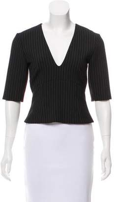 Nicole Miller Striped V-Neckline Top w/ Tags
