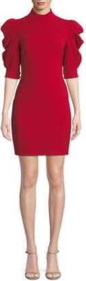 Alice + Olivia Brenna Puff-Sleeve Mini Dress