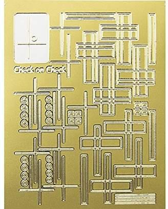 Alpha (アルファ) - ネイルエンボスシール ゴールドチェック