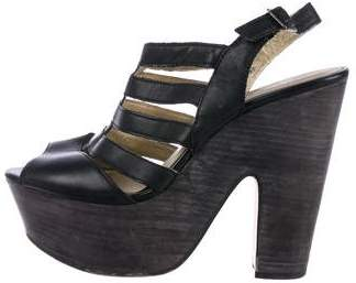 Seychelles Leather Platform Sandals