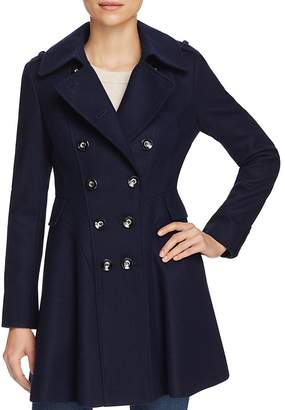 Via Spiga Skirted Double-Breasted Button Front Coat $250 thestylecure.com