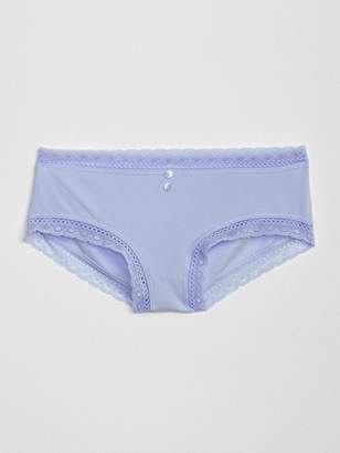 Gap Stretch Cotton and Lace Hipster
