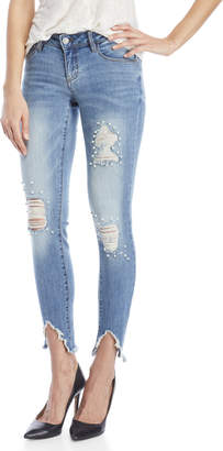 Dollhouse Alexa Uneven Hem Skinny Jeans