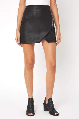 74bc07d298 Blank NYC Faux Leather Zip Mini Skirt