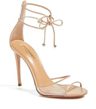 Aquazzura Optic Clear Ankle Tie Sandal