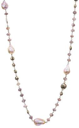 """Chan Luu Beaded Cultured Freshwater Pearl Necklace in Sterling Silver, 39"""""""