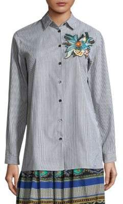 Etro Stripe Embroidered Shirt
