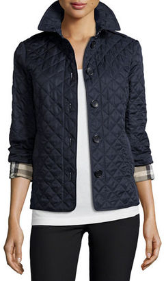 Burberry Brit Ashurst Classic Modern Quilted Jacket $595 thestylecure.com