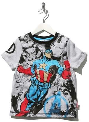 M&Co Marvel Avengers Captain America print t-shirt