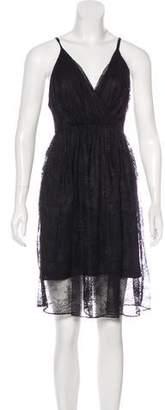 Alice + Olivia Lace Knee-Length Dress