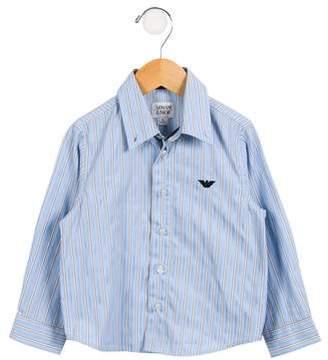 Armani Junior Boys' Striped Button-Up Shirt