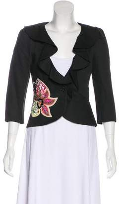 Christian Lacroix Embroidered Structured Blazer