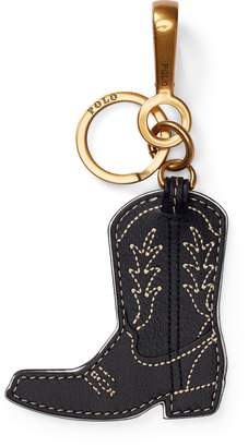 Ralph Lauren Leather Cowboy Boot Key Chain