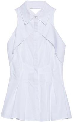 Antonio Berardi Layered Pleated Cotton-Poplin Top