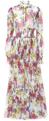 Dolce & Gabbana Floral silk maxi dress