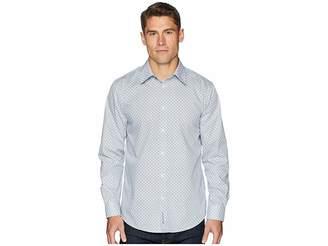 Ben Sherman Long Sleeve Bias Check Print Shirt Men's Long Sleeve Button Up