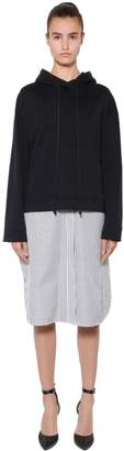 Juun.J Layered Sweatshirt & Striped Shirt Dress