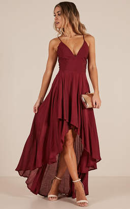 Showpo Make You Smile dress in wine - 10 (M) Occasion Dresses
