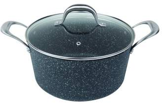 "MasterPan Granite Ultra Non-Stick Cast Aluminum Stock Pot w/ Glass Lid, 9.5"""