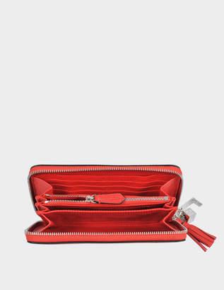 Lancel Nine Continental zipped wallet