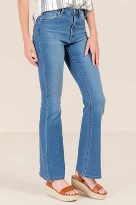 francesca's Sabri High Waist Flared Jeans - Medium Wash
