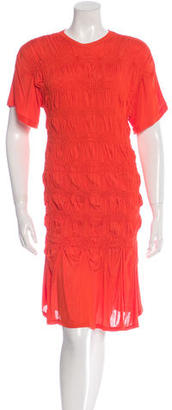 Jean Paul Gaultier Ruched Rib Knit Dress w/ Tags $95 thestylecure.com