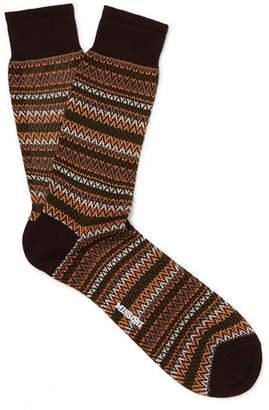 Missoni Crochet-knit Cotton Socks - Brown