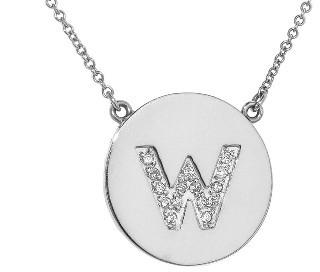 Jennifer Meyer Diamond Letter Necklace - W - White Gold