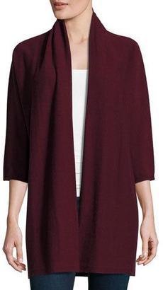 Eileen Fisher Fine-Gauge Cashmere 3/4-Sleeve Cardigan, Raisonette $498 thestylecure.com