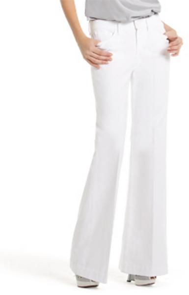 7 for all Mankind Ginger Wide-Leg Jean, Clean White Wash