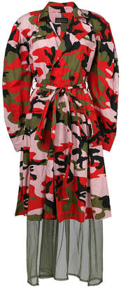 Barbara Bologna camouflage print coat