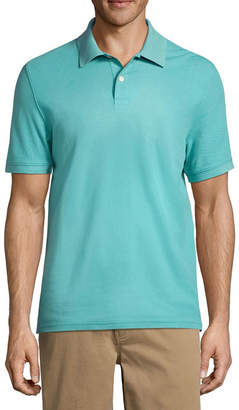 ST. JOHN'S BAY Easy Care Short Sleeve Pique Polo Shirt Slim
