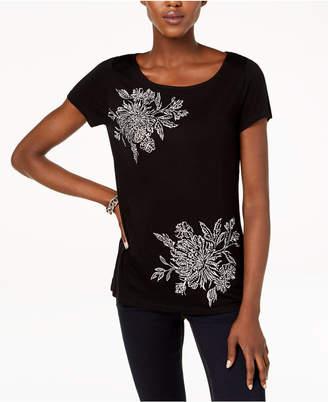 INC International Concepts I.n.c. Embellished T-Shirt