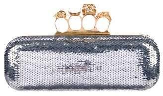 Alexander McQueen Sequin Embellished Knuckle Duster Clutch