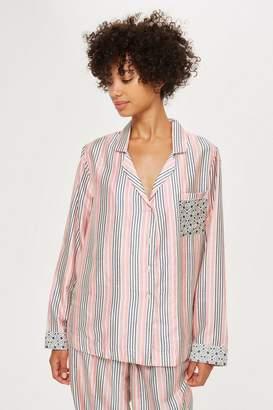 Topshop Key To Freedom Stripe Pyjama Shirt