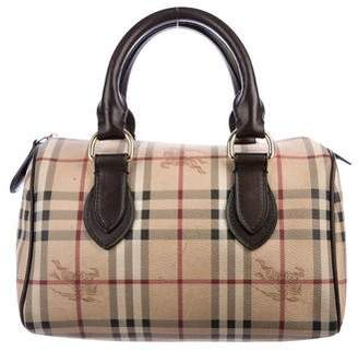 Burberry Haymarket Boston Bag